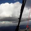 Heading off. Big cloud development to the NE.