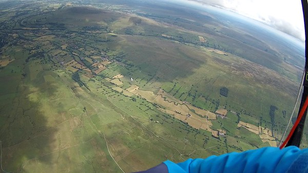 Pablo below over Bishopdale.