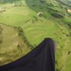 Ian Ferguson - top landing is in field by toe of harness