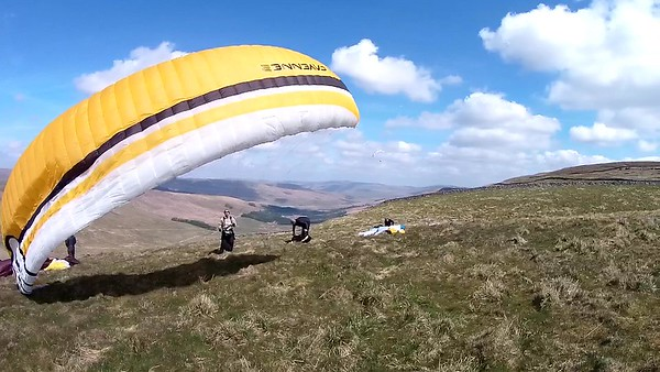 DODD: Pete Logan checking  the right moment for take off.