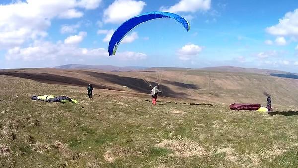 Pete 'redpants' Darwood testing the air.