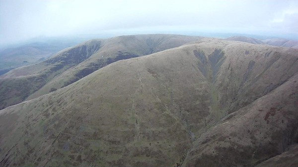 Looking back towards Fell Head. Geoff Moss just visible.