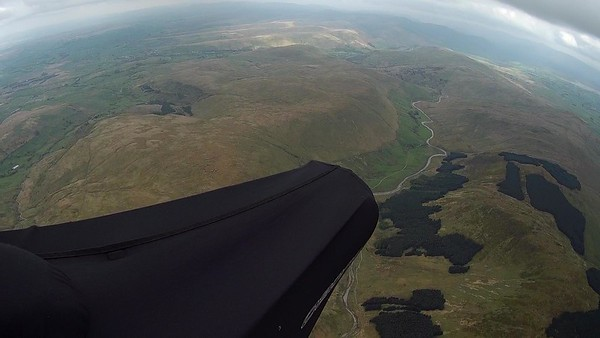 Passing over Borrowdale heading south.
