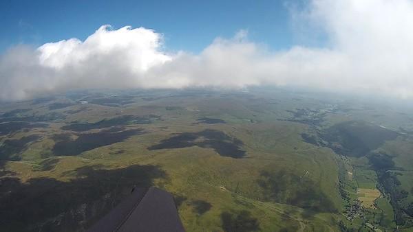 On glide towards Buckden Pike.