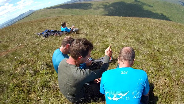 Planning the route ... it didn't last beyond reaching base.