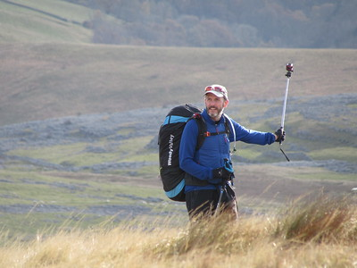 Tim Rodgers part way through his hike n fly adventure.