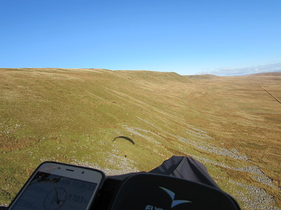 Climbing and about to set off up the ridge (5k) to Great Coum in far distance.