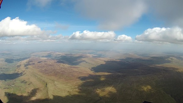 Bishopdale to the left, Buckden Pike ahead