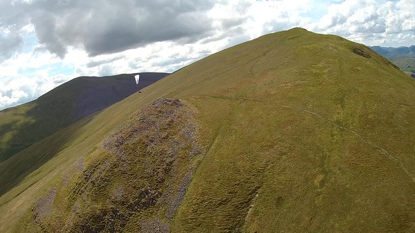 NE/ENE face of Clough. Thermals never got it together. Bitty stuff. Brian on GTO 2.
