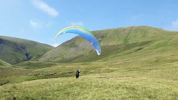 Me  - just after landing (Photo: Rosie Darwood)