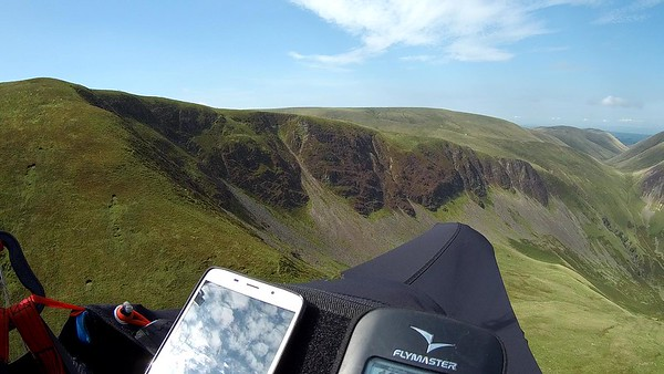 Looking into the crags of Cautley Spout.