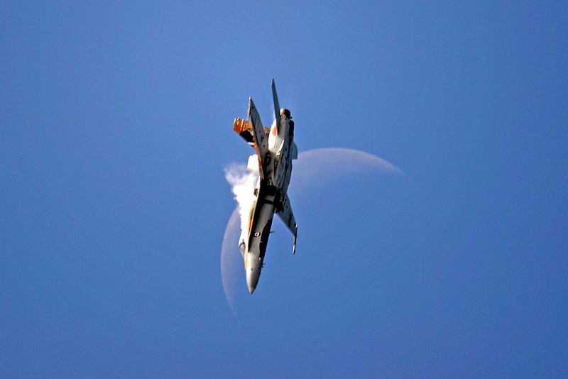 1150 CF-18 over the moon