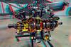263 Radial engine cutaway anaglyph
