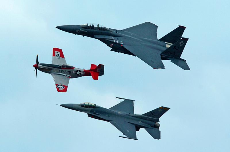 1203 Heritage Flight P51 F15E F16