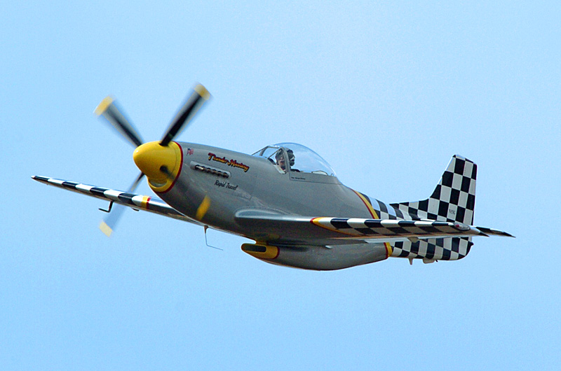 321 Thunder Mustang small scale replica including a scaled down V-12 engine