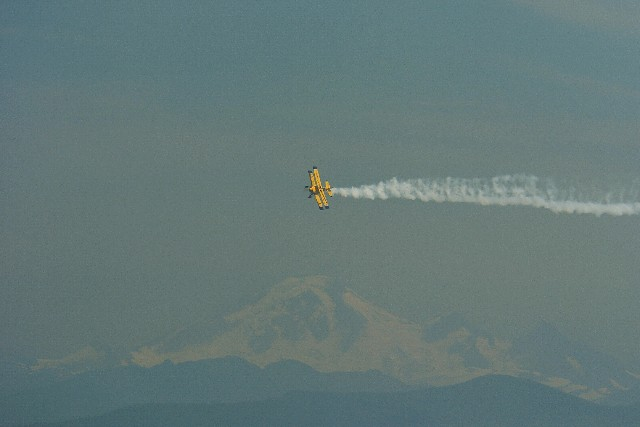 Bulldog over Mt Baker 1674