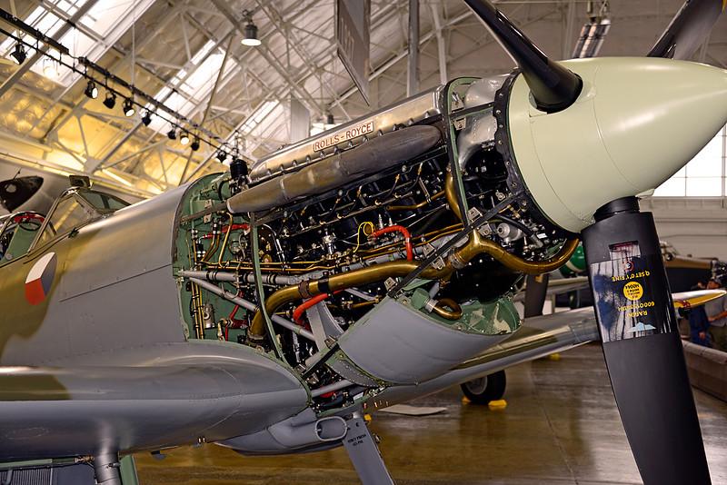 3272 Supermarine Spitfire Mk Vc Rolls Royce engine cowling open