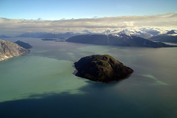 1593 Composite Island Glaceir Bay with Gilbert Peninsula in the background