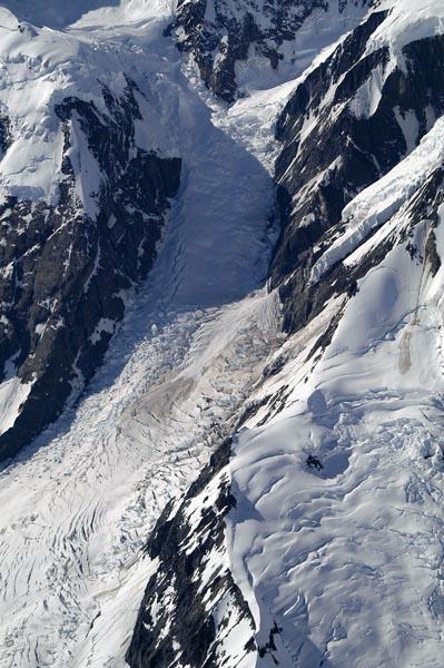 Glacier between Mount Fairweather and Mount Quincy Adams