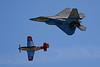 5230 F22 Raptor and P51D Mustang Heritage Flight