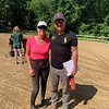 Owner and instructor Kathy McDermott of Chelmsford with judge Brian Russell, who owns Sage Farm in Dover