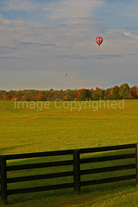 Balloon over field - 11/5/08