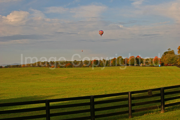 Balloon over field - 11/21/08