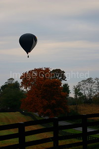 Balloon over Country Road - 10/28/06