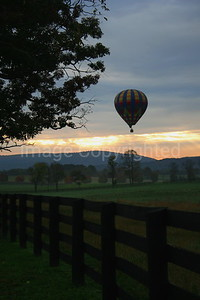 Balloon over Farm - 10/28/06