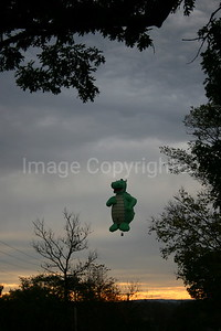 Serpent Balloon over Field - 10/28/06