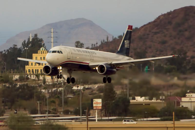 A320 Arrives over Tovrea Castle