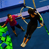KRISTOPHER RADDER - BRATTLEBORO REFORMER<br /> Cassidy Mcdonough-Penson rehearses on the aerial lyra with coach Victoria Quine.