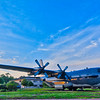 """Wicked Wanda"", a retired AC-130H Spectre Gunship on display at Hurlburt Field, Florida."