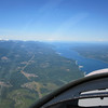 Headed back to Paine Field.  That's Hood Canal ahead of us.