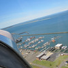Headed back.  This is the Westport marina on climbout from the airport (we took off on runway 30, northwest)