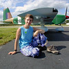 Rebecca and her Grumman AA-1B Trainer