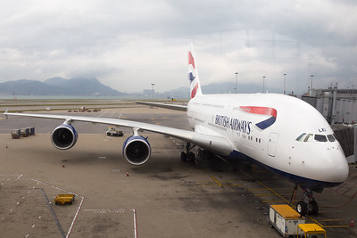 British Airways A380 - Hong Kong