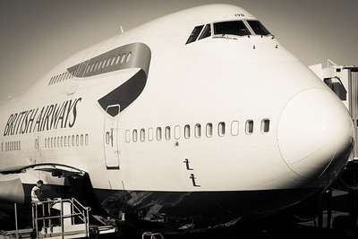 The queen of the skies at Denver International Airport.