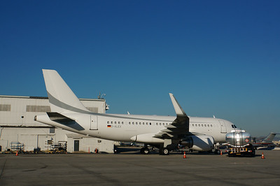 Private German A319, LAX
