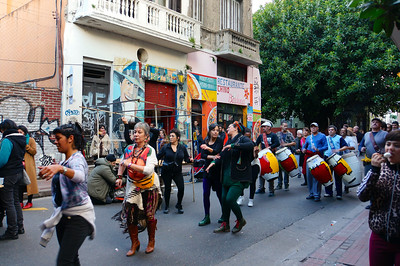 Dancing and drumming procession