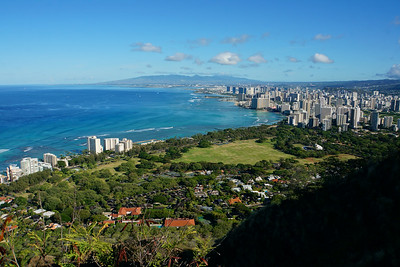 Waikiki and Honolulu from Diamond Head