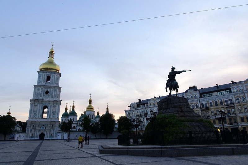 St. Sophia's Cathedral/Statue of Bohdan Khmelnytsky
