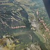 Over Telluride, CO looking North at Mountain Village and the airport.