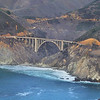 Bixby Bridge on Pacific Coast Highway 1 flying North from Cambria.
