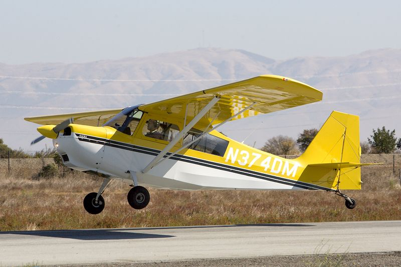 Mike's first Citabria landing without an instructor