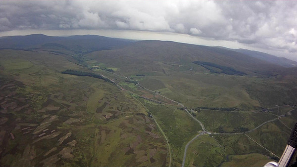 Approaching TP1 and looking down Garsdale. The moors provide good thermal sources and there are good triggers in front of the ridge.