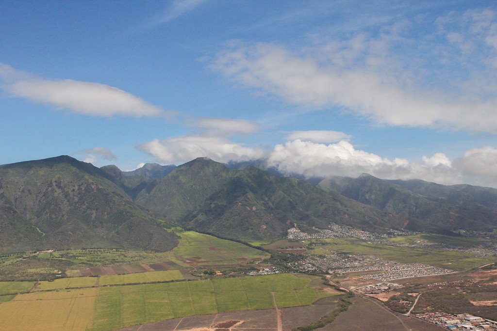 Iao Valley. Landing in Maui on Alaska Airlines