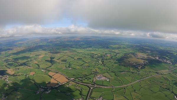 Looking east towards Farleton from 4000'