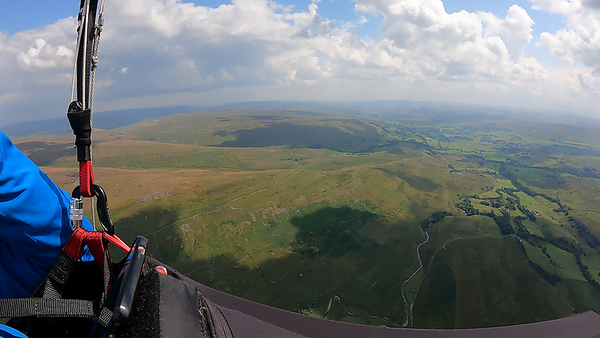We were basically an hour too late. Down the valley looked OK at this stage but large clouds were building in places.