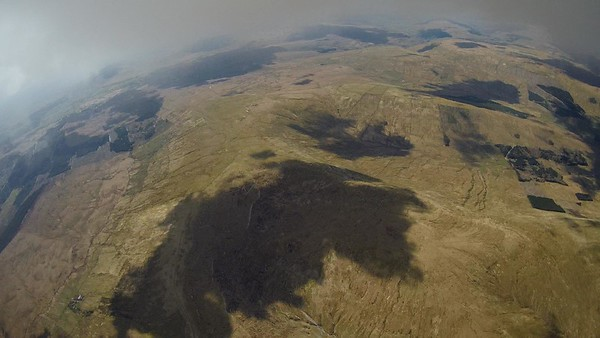 After a lengthy shutdown spell it came good again. Climb out to 6400' and base over back of Dodd.